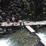 源流の村で川釣り体験!